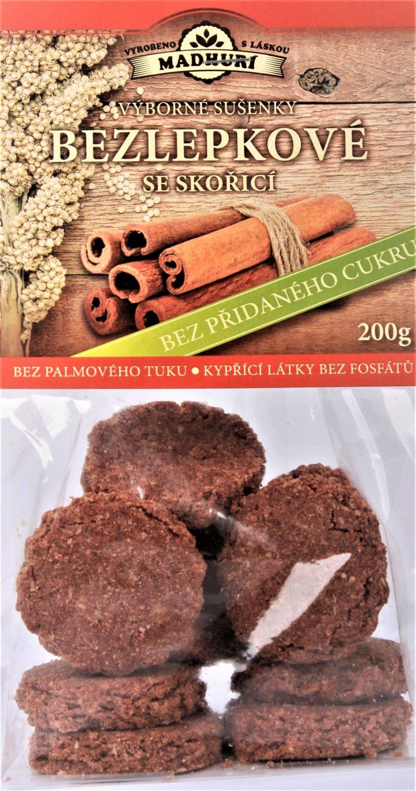 Bezlepkové sušenky se skořicí