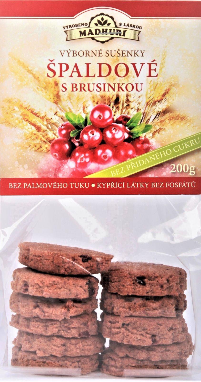 Špaldové měkké sušenky s brusinkou bez přidaného cukru