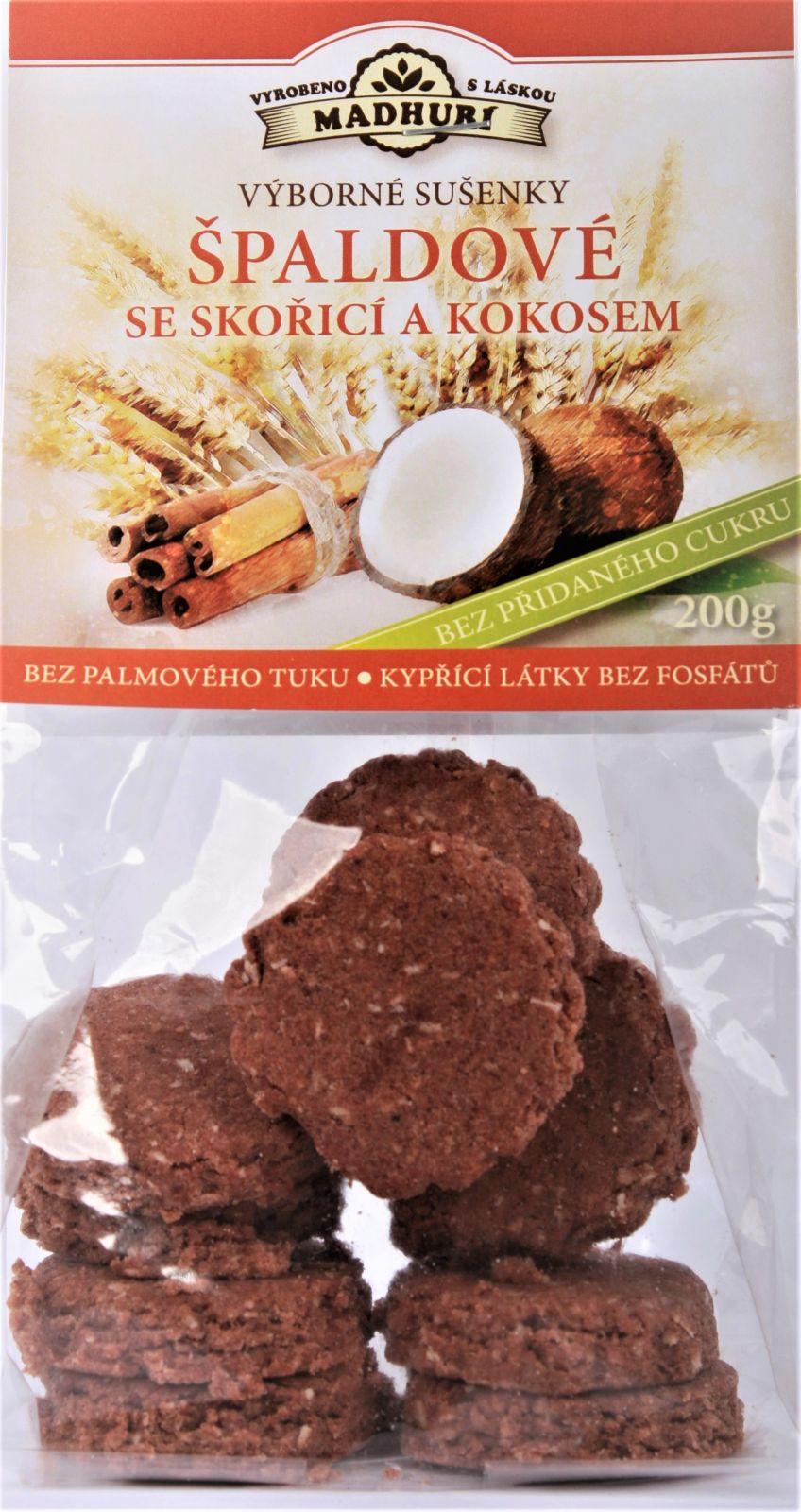 Špaldové měkké sušenky se skořicí a kokosem